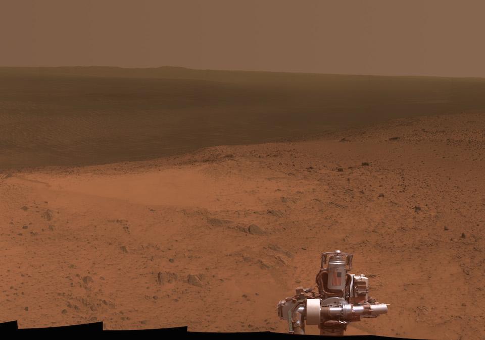 Panorámica de Marte tomada por el Opportunity desde el monte Cape trbulation- NASA
