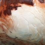 """Un """"capuchino"""" en el polo sur de Marte"""
