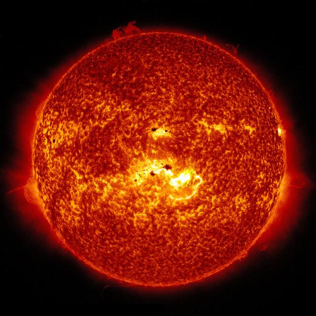 La actividad del Sol hoy, similar a la del siglo XVIII.