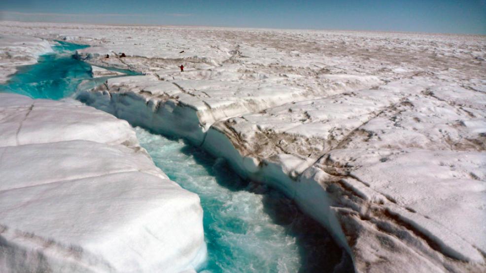 Los ríos están drenando rápidamente en Groenlandia