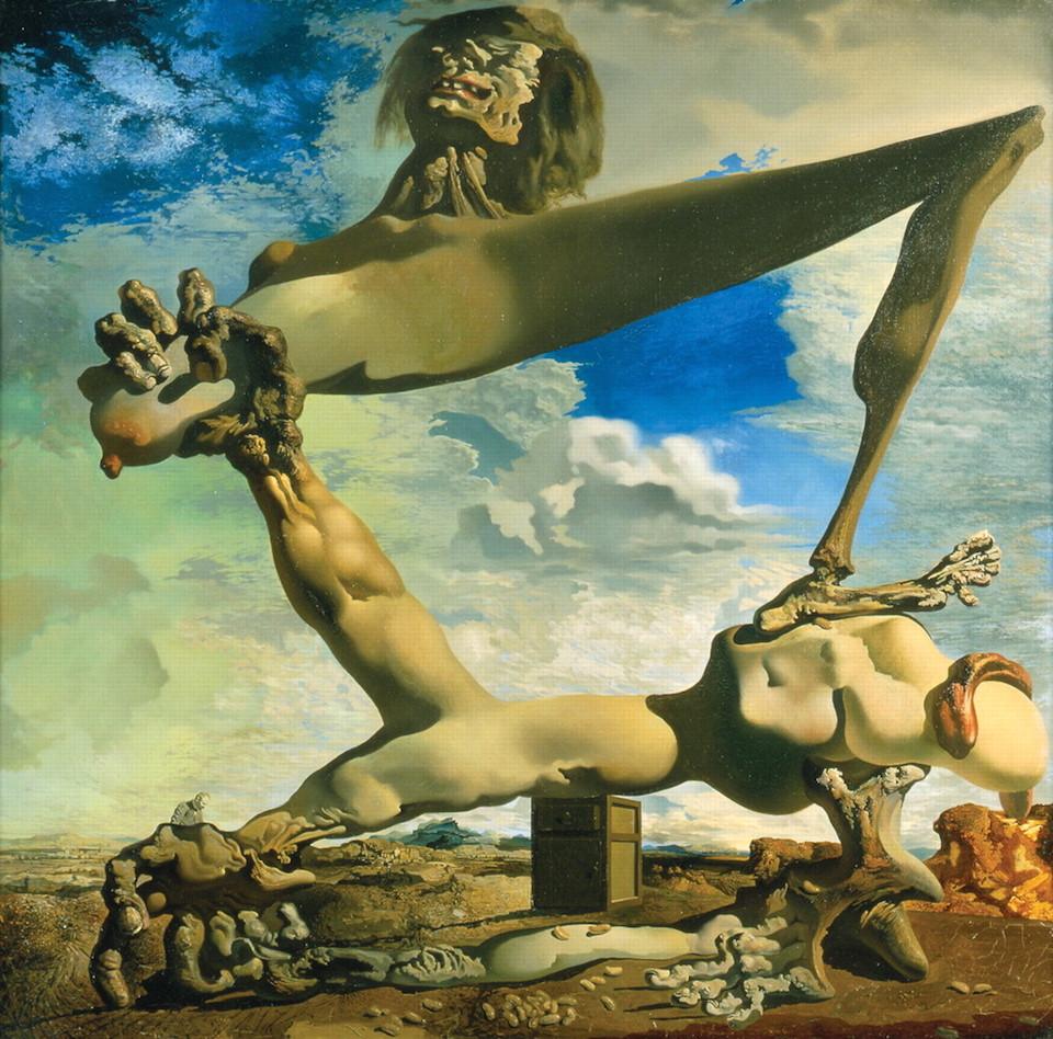 Construccion blanda con judías hervidas (Premonición de la guerra civil), Salvador Dalí, 1936- Philadelphia Museum Art