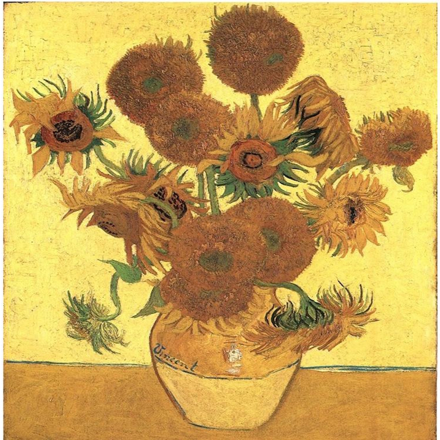 Jarrón con quince girasoles, Vincent van Gogh, 1888- Galeria Nacional, Londres