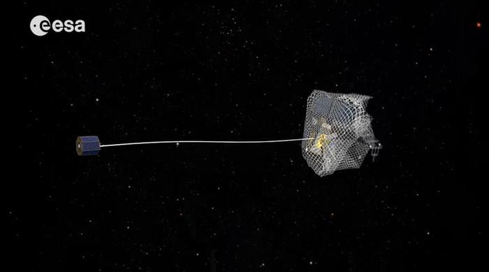 Red de pesca para atrapar satélites