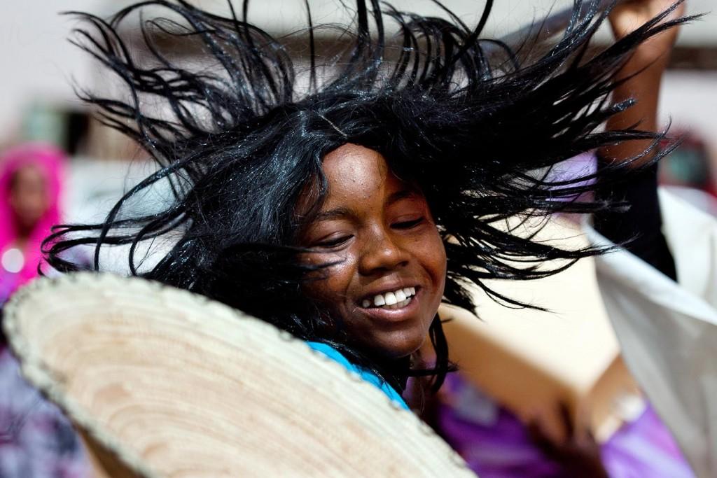 Niños en el campamento de desplazados en Darfur- Albert González Farran, ONU Foto