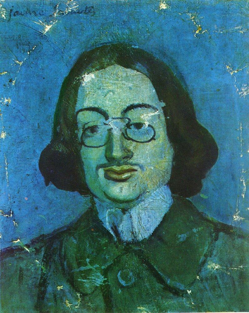 Retrato azul de Jaume Sabartés. Pablo Picasso, 1901