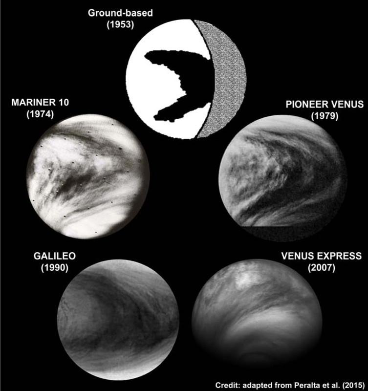 Una onda distorsionada por el viento produce la gran 'Y' del cielo de Venus