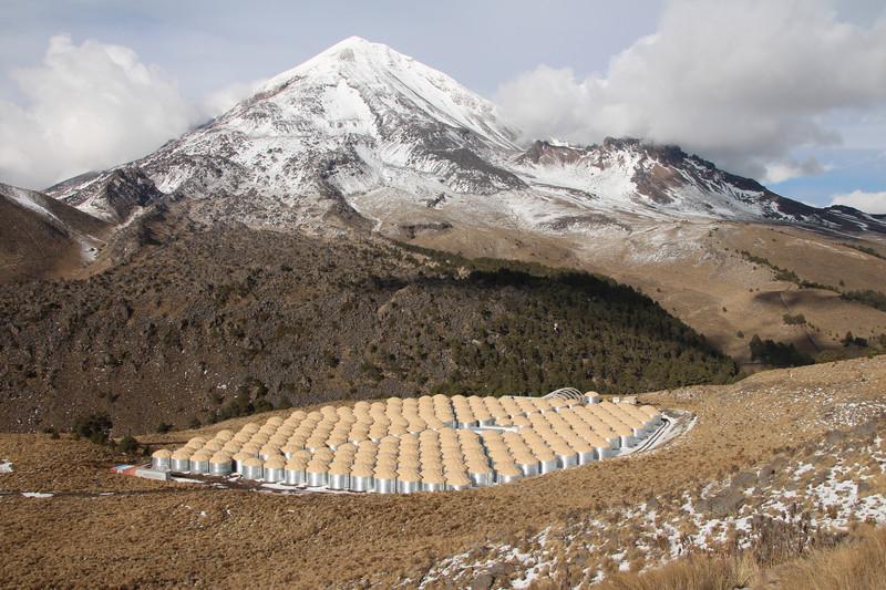 300 detectores registran los rayos gamma desde un volcán mexicano