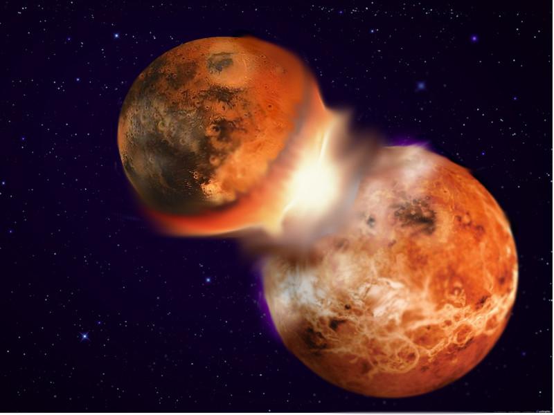 ¿Surgió la Luna por el choque de la Tierra con un planeta de composición similar?