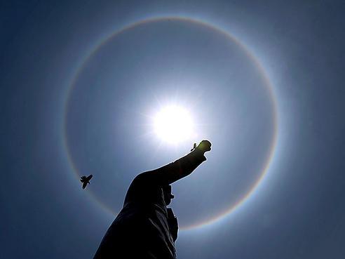 ¿Cómo se forman los halos solares?