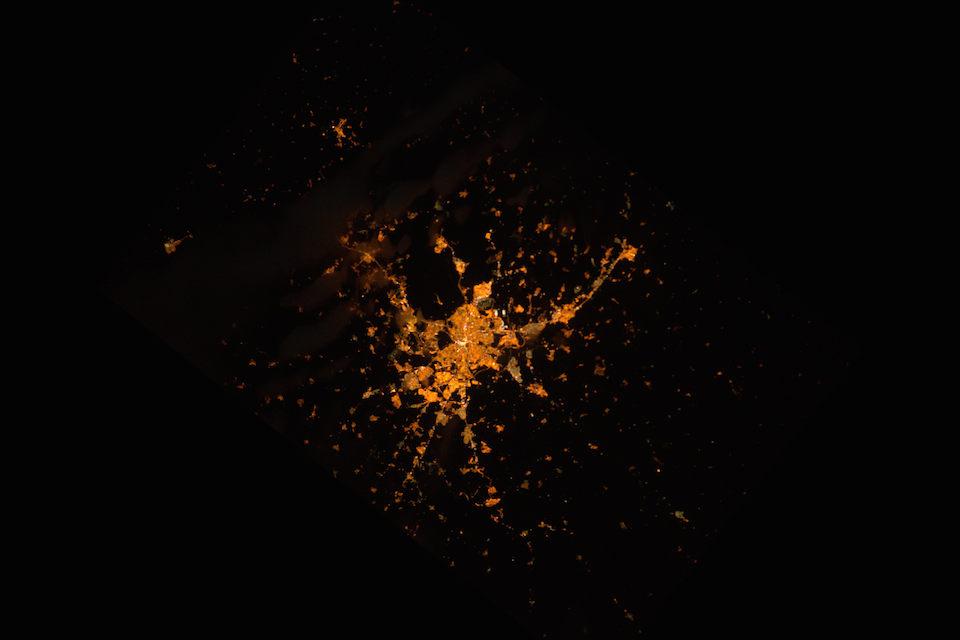 Madrid visto desde el espacio- Samantha Cristoforetti