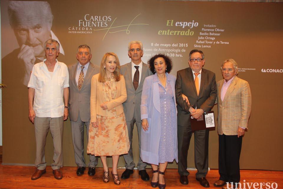Miguel Limón, Víctor Arredondo, Silvia Lemus, Basilio Baltasar, Florence Olivier, Julio Ortega y Enrique Florescano.