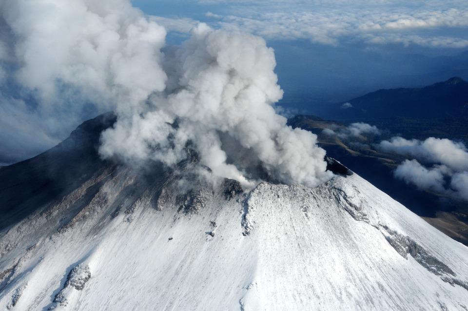 Imagen del Popocatépetl del 10 de julio de 2013- Semar