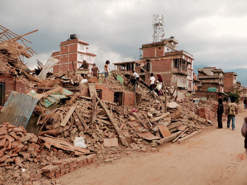 Daños causados por el terremoto en Nepal. / SIM Central and South East Asia.