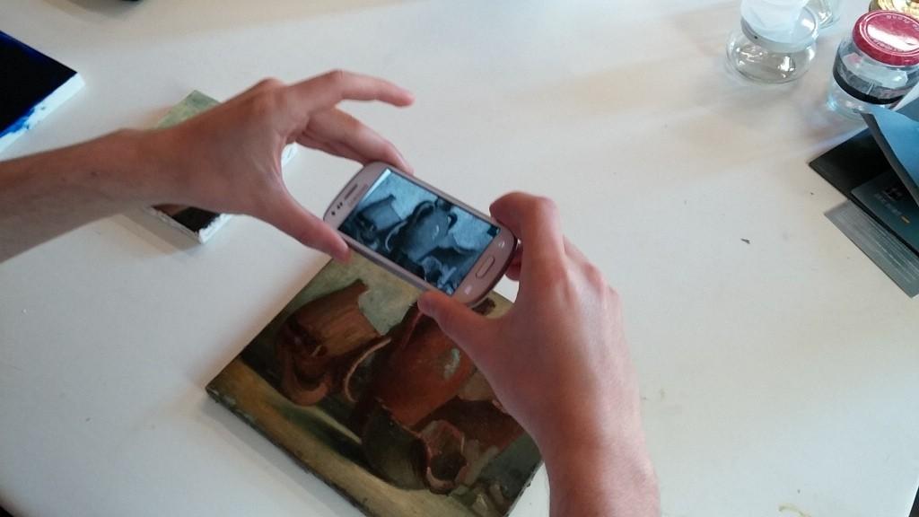 Escáner de grafeno para explorar obras de arte