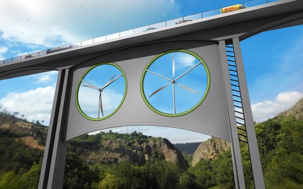 Viaductos con aerogeneradores, nueva fuente de energía renovable
