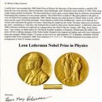 Subastan medalla del Nobel Leon Lederman en 765,002 dólares