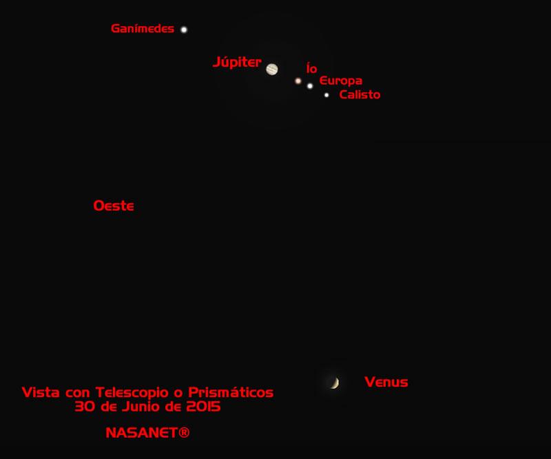 """Hoy 30 de junio """"El Encuentro""""... ¡Júpiter y Venus por fin juntos!"""