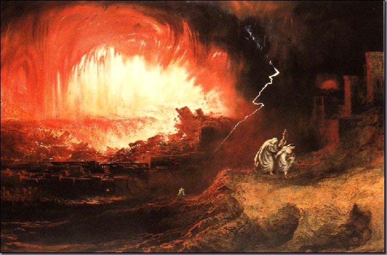 La destrucción de Sodoma y Gomora, John Martin, 1832