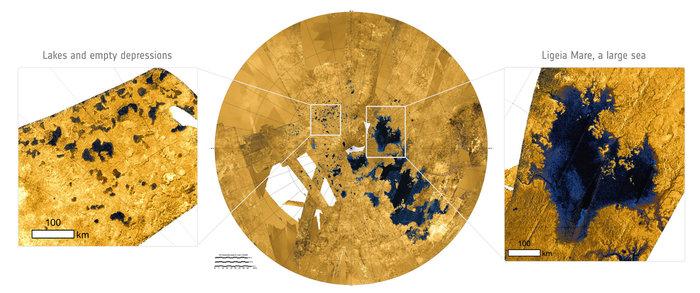 Disolviendo la superficie de Titán