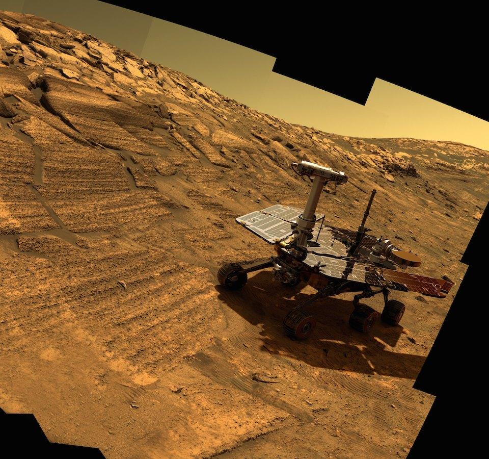 Opportunity en el cráter Endurance- NASA