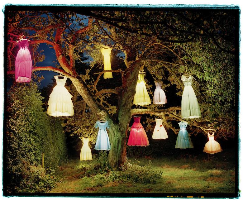 Árbol con vestidos-Lámpara, Tim Walker, Inglaterra, 2004