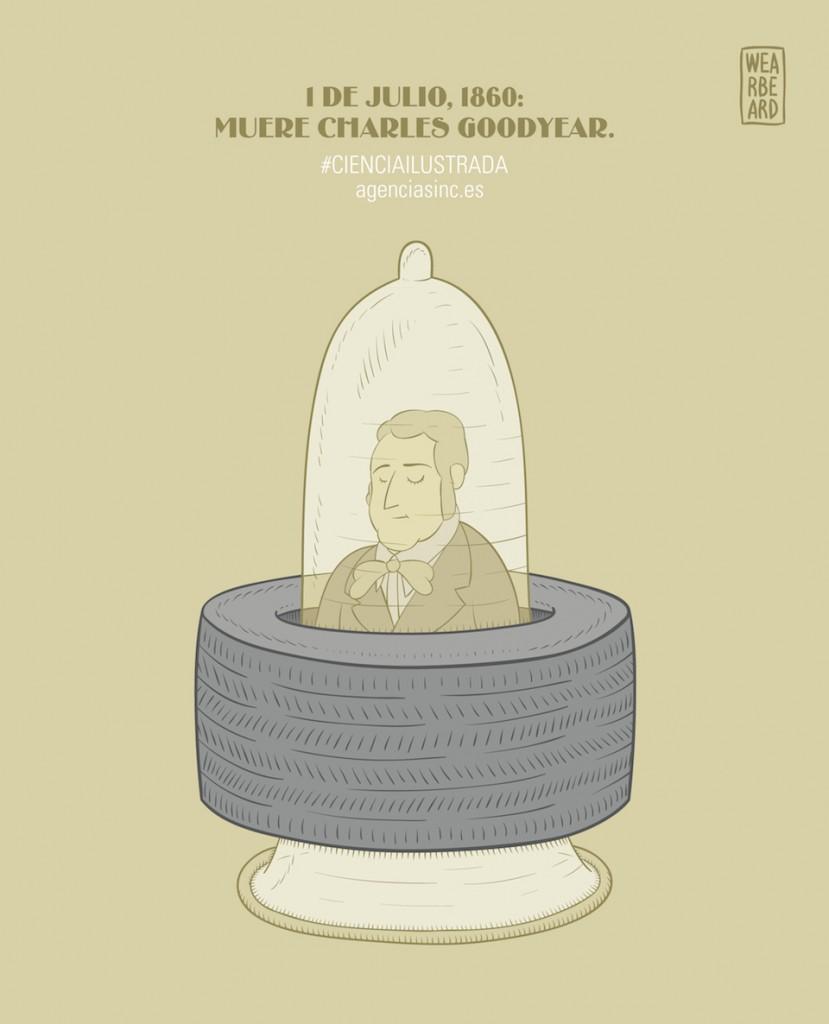 Charles Goodyear, látex, neumáticos y preservativos