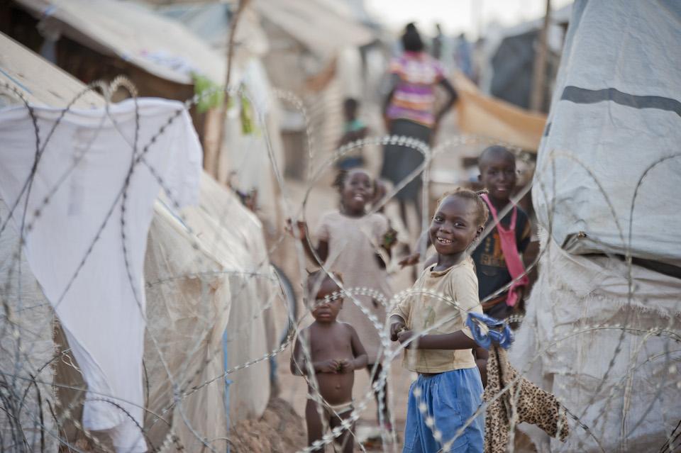 Niños en un campamento de desplazados, República Centroafricana, Catianne Tijerina, Foto ONU