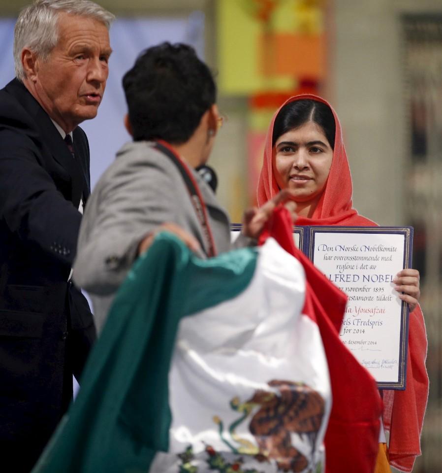 Adán Cortés Salas interrumpe la entrega del Nobel de la Paz a Malala