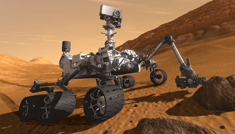 El rover Curiosity en Marte- NASA/JPL-Caltech