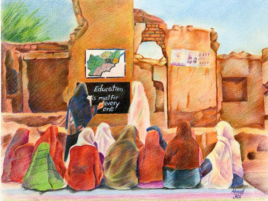 Educación después de la guerra, Ahmad Jalil, 15 años, Pakistán 2013