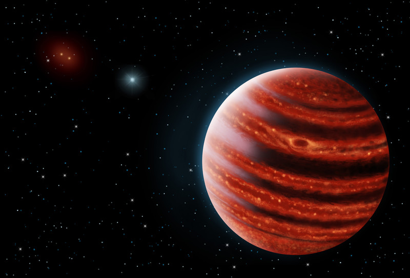 Exoplaneta similar a Júpiter, 51 Eridani b- Danielle Futselaar & Franck Marchis, SETI Institute.jpg