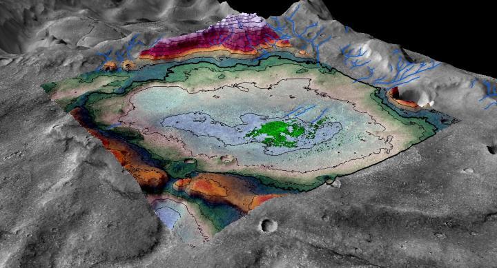 Salar vestigio de uno de los ultimos lagos de Marte- LASP/ Brian Hynek