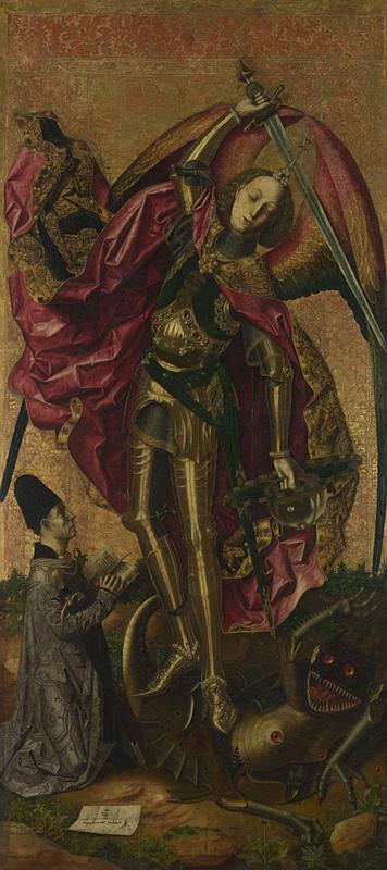 San Miguel triunfa sobre el demonio, Bartolomé Bermejo, 1468- National Gallery, Londres