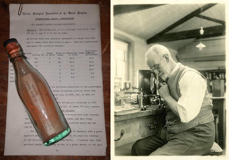Un mensaje centenario en una botella