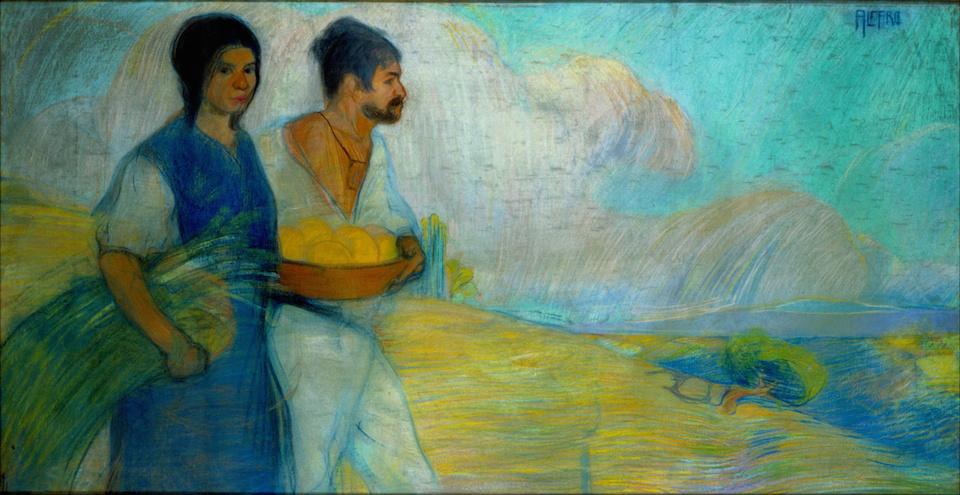 Campesinos, David Alfaro Siqueiros, 1913- Museo Nacional de Arte, México
