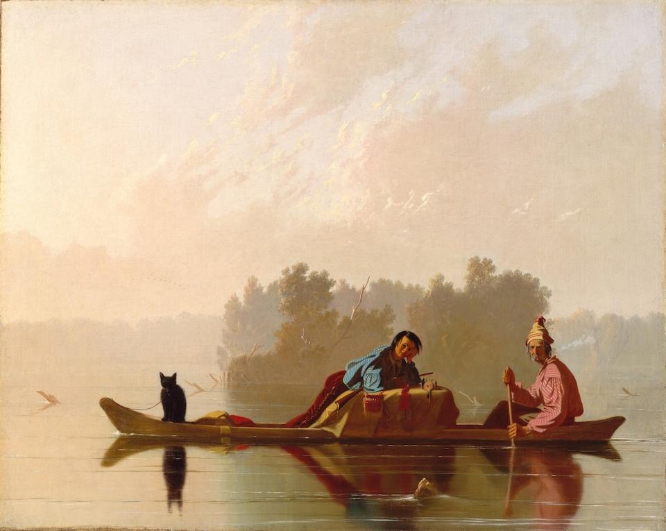 Fur Traders Descending the Missouri, 1845, George Caleb Bingham- Metropolitan Museum of Art, New York
