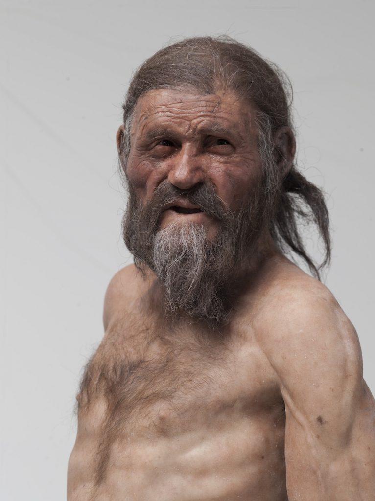 Imagen reconstruida de Ötzi- Adrie and Alfons Kennis