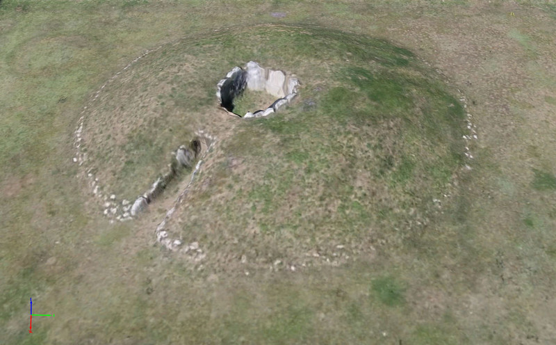 Reproducen un dolmen en 3D gracias a un dron