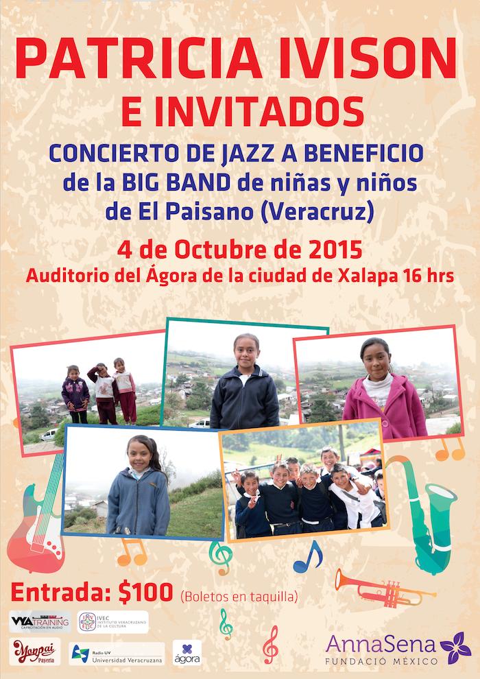 Patricia Ivison, concierto de Jazz, para la Big Band de los niños de El Paisano