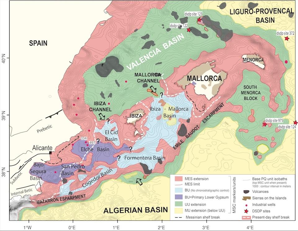 El Mediterráneo formó enormes capas de yeso en aguas profundas