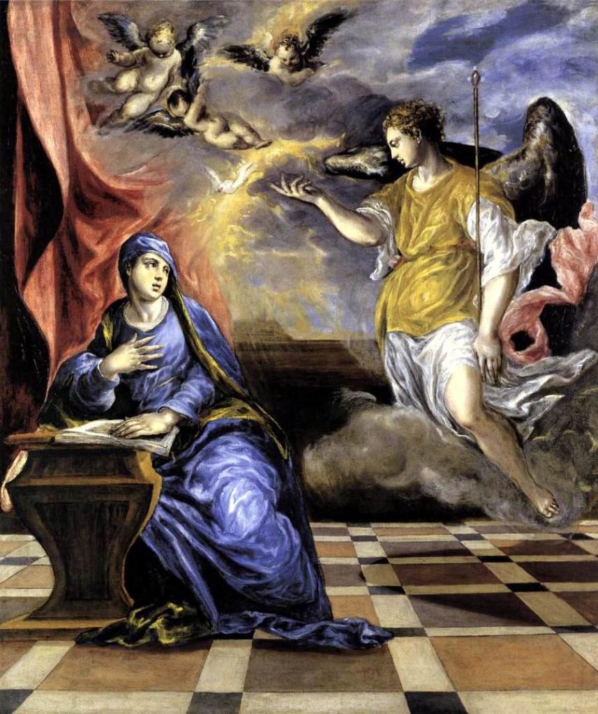 La Anunciación, El Greco, 1573-1576, Museo Thyssen-Bornemisza