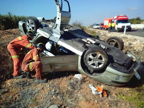 Accidente de tráfico- Consorcio de Bomberos de Valencia