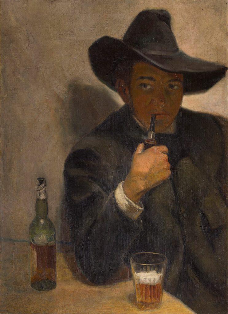 Autorretrato con chambergo, Diego Rivera, 1907- Museo Dolores Olmedo