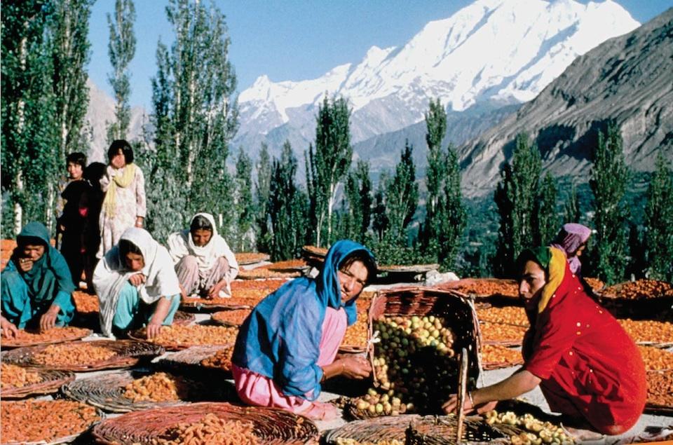 Productores de montaña ofreciendo sus productos- FAO