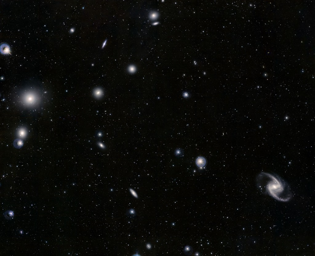 Cúmulo de Galaxias Fornax- ESO/J. Emerson/VISTA. Acknowledgment: Cambridge Astronomical Survey Unit