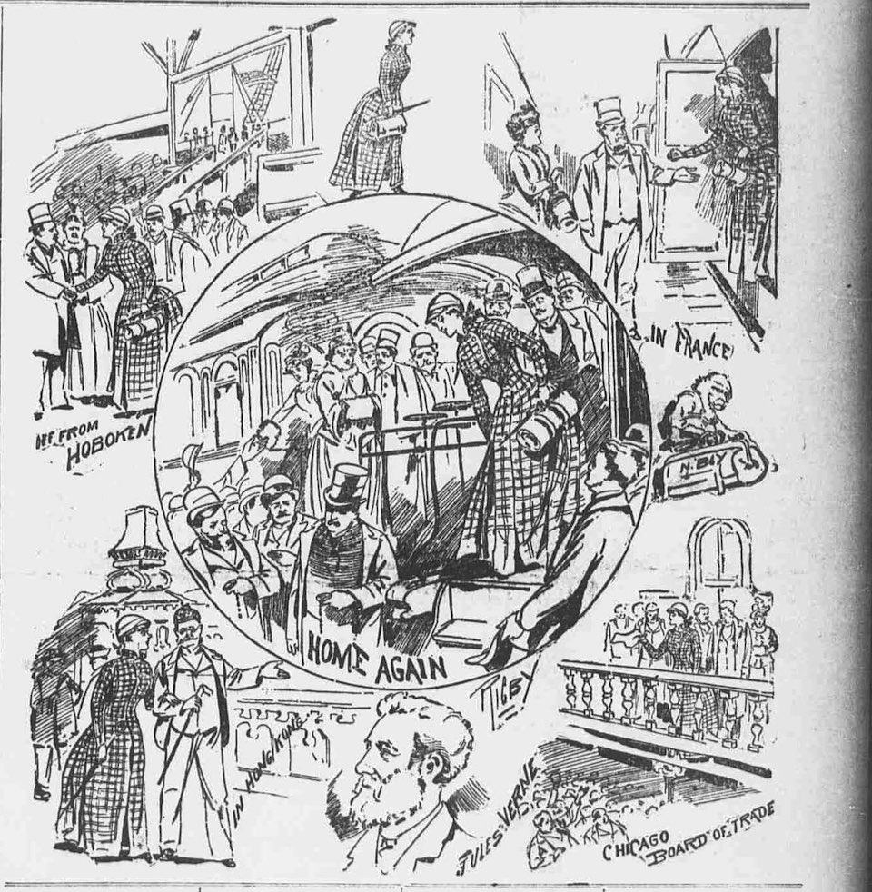 Nellie Bly: la primera mujer en dar la vuelta al mundo sola. 25 de enero de 1890
