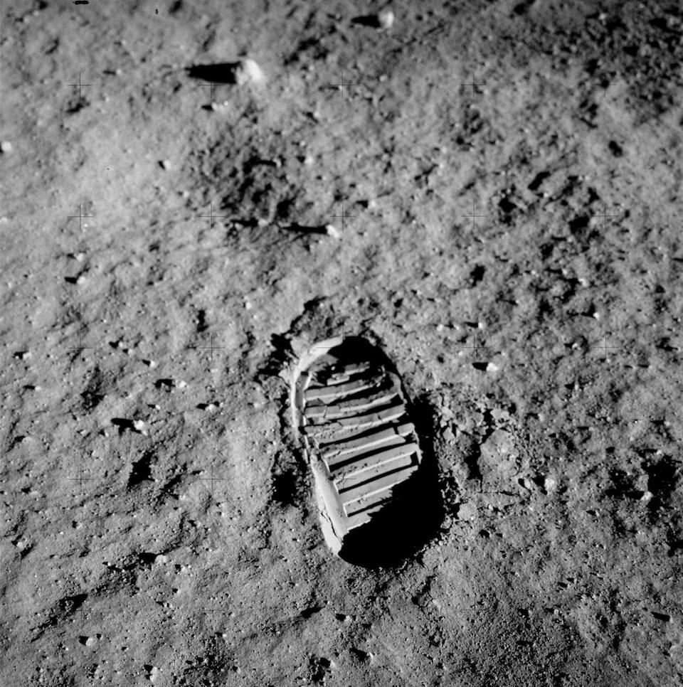 Huella del astronauta Buzz Aldrin, del Apollo 11, en la Luna- NASA