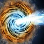 Rayos gamma, en una galaxia activa muy lejana
