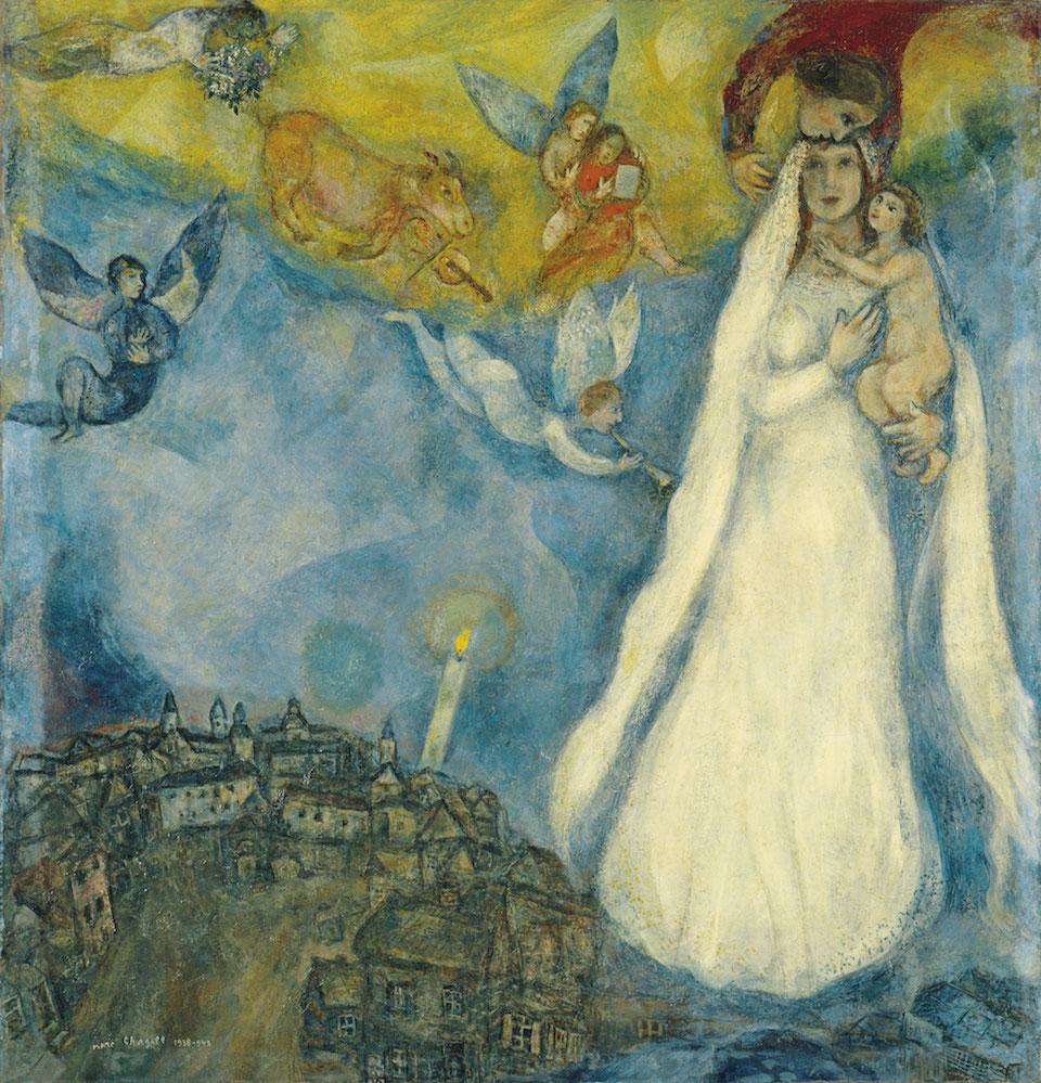 La Virgen de la aldea, Marc Chagall, 1938-1942