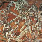 La creación del hombre maya, Raúl Anguiano- MNA